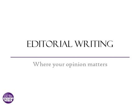 Editorial Essay Example