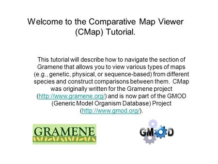 This tutorial will describe how to navigate the section of Gramene that allows you to view various types of maps (e.g., genetic, physical, or sequence-based)