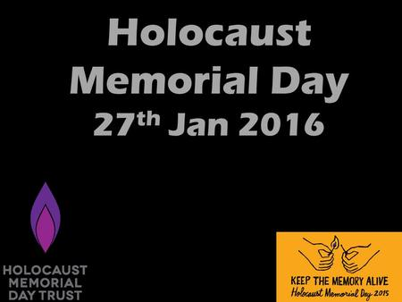 Holocaust Memorial Day 27 th Jan 2016. It happened in concentration camps such as Auschwitz, and Treblinka in Poland. Belsen, Buchenwald and Dachau in.