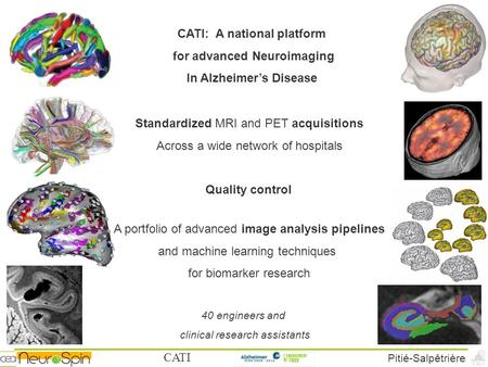 CATI Pitié-Salpêtrière CATI: A national platform for advanced Neuroimaging In Alzheimer's Disease Standardized MRI and PET acquisitions Across a wide network.