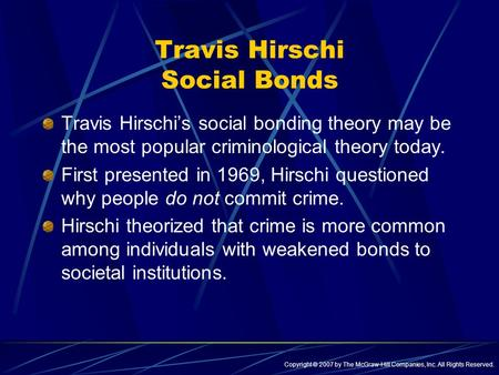 Travis Hirschi Social Bonds