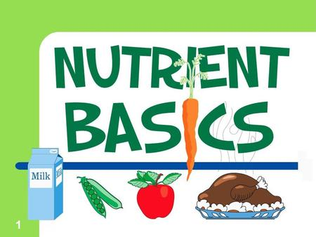 1. 2 Nutrients  The food you eat is a source of nutrients. Nutrients are defined as the substances found in food that keep your body functioning.  Your.