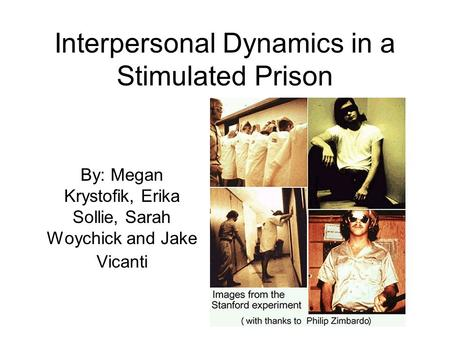 stanford prison experiment compared to abu ghraib Wired: how did what happened at abu ghraib compare to your stanford prison study zimbardo: the military intelligence, the cia and the civilian interrogator corporation, titan, told the mps [at.