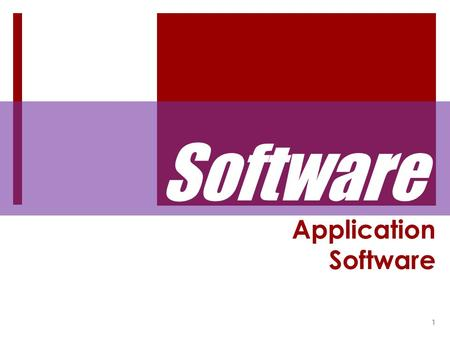 Application Software 1 Software.  Computers require software to function. Software is the instructions that allow users to communicate with the computer;