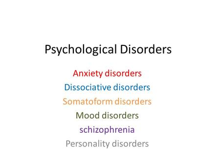psych mood disorder Spot mood disorders - depression and anxiety - in teen girls: why they are so   abuse problems also have a psychiatric disorder, including, most commonly,.