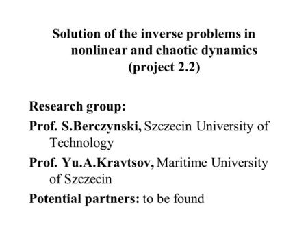 inverse problem thesis