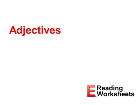 Adjectives.