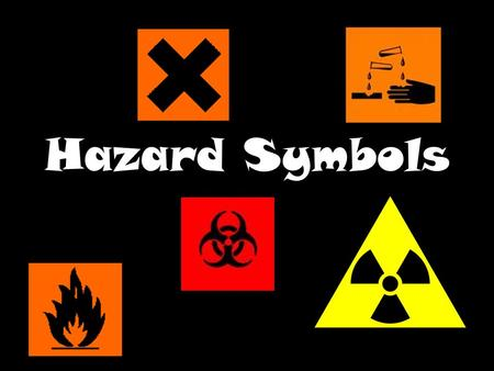 Hazard Symbols. Irritant or Harmful These substances can cause reddening or blistering of the skin.