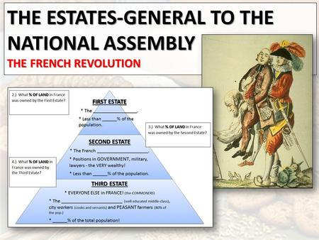 THE ESTATES-GENERAL TO THE NATIONAL ASSEMBLY THE FRENCH REVOLUTION.