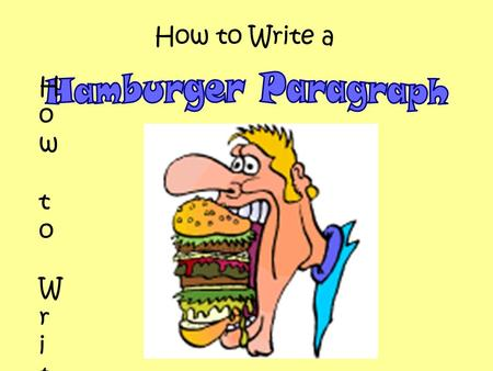 How to Write a How to Write aHow to Write a. Big Mac Cheeseburger What are the ingredients of a Big Mac Cheeseburger? Top Bun Lettuce Tomato Cheese Onion.