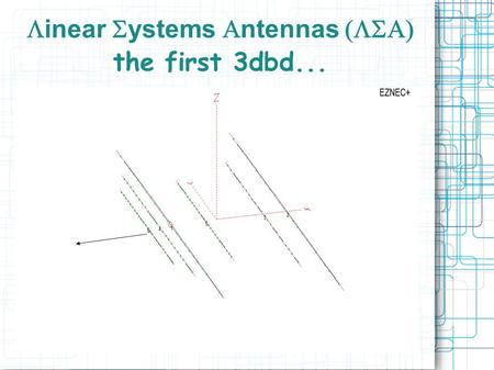 Linear Systems Antennas (LSA) the first 3dbd...