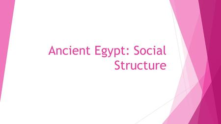 Ancient Egypt: Social Structure. Mind Map  What are some of the traits of a great leader?