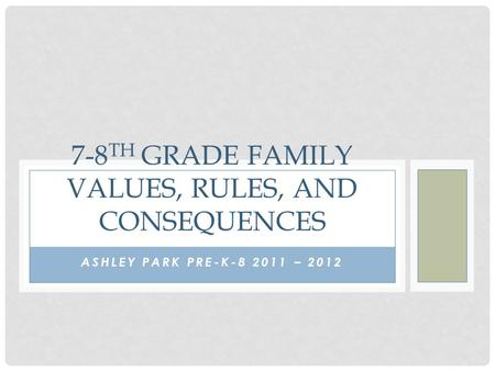 7-8th Grade Family Values, Rules, and Consequences