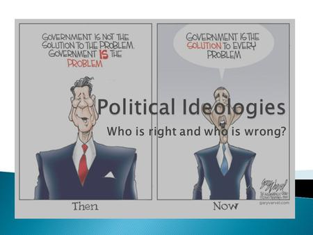 Who is right and who is wrong?.  An ideology is a set of conscious and unconscious ideas that constitute one's goals, expectations, and actions.  Ideologies.