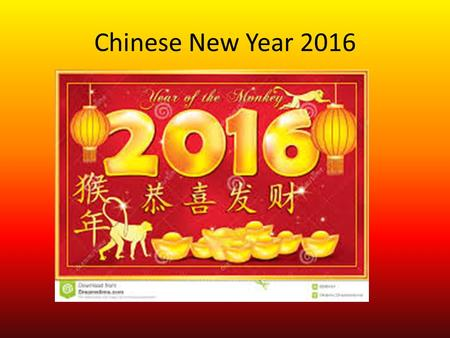 Chinese New Year 2016. The Race The Chinese zodiac follows a twelve year cycle, each of the years being named after an animal. The Chinese believe that.