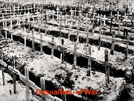 Casualties of War. A Study in Americans Death Toll After WWI, the the public reaction.