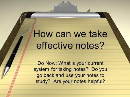 effective note taking research paper In mental rehearsal followed by note taking is effective for note taking and mental rehearsal mental rehearsal and note taking previous research studies.