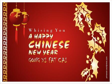 What's Chinese New Year? Chinese New Year is an annual festival based on the Chinese calendar. The date varies slightly from year to year. This year,