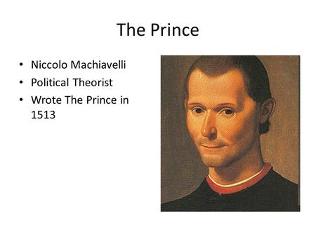 machiavelli prince ideal political leader