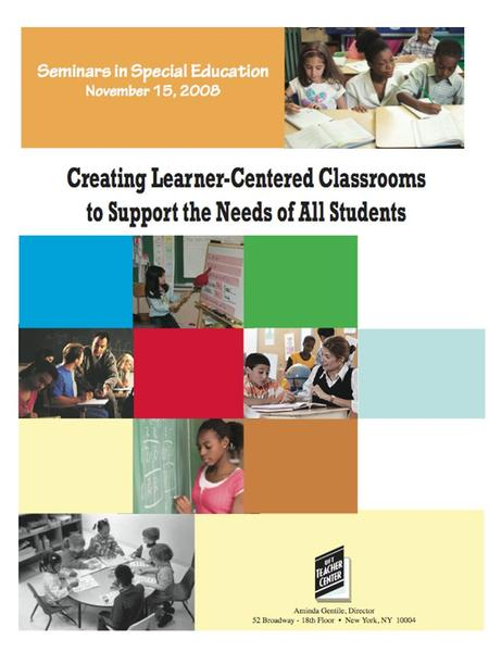 "Agenda What is ""learner-centered""? ~Think of Time Activity ~ Learner-Centered: In Our Own Words Effective Instructional Strategies for the Learner- Centered."