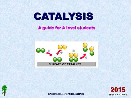 CATALYSIS A guide for A level students KNOCKHARDY PUBLISHING 2015 SPECIFICATIONS.