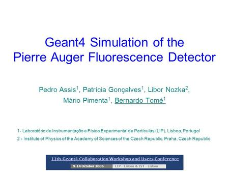 Geant4 Simulation of the Pierre Auger Fluorescence Detector