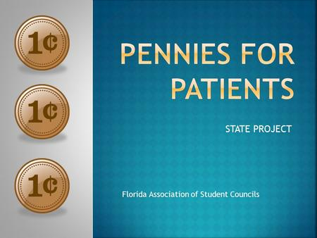 STATE PROJECT Florida Association of Student Councils.