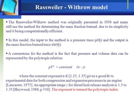 Rassweiler - Withrow model