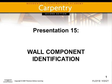 WALL COMPONENT IDENTIFICATION