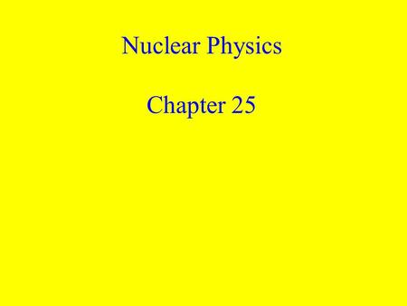Nuclear Physics Chapter 25. 3 Li lithium 6.941 1 name symbol atomic number (# of p + ) average atomic mass electrons in outer energy level.