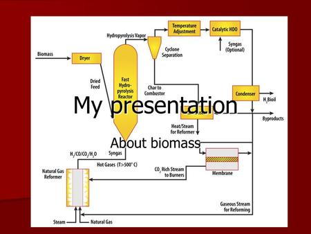 My presentation About biomass. page one page one Biomass is a renewable energy source is biological material from living or recently living bacteria such.