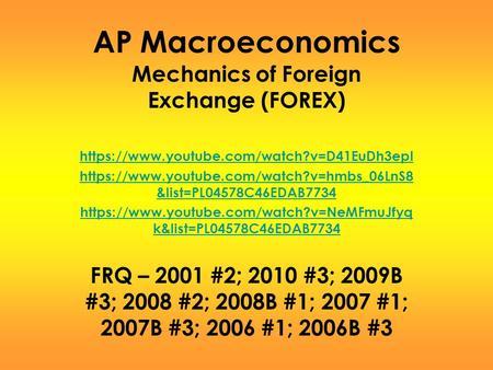 Ap econ forex