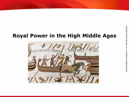 TEKS 8C: Calculate percent composition and empirical and molecular formulas. Royal Power in the High Middle Ages.