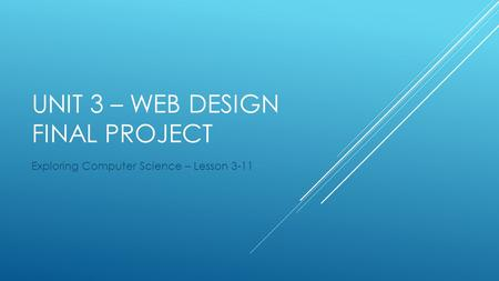 Unit 3 – Web design Final Project