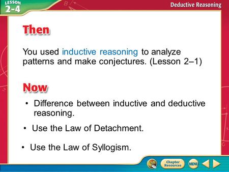 Difference between inductive and deductive reasoning.