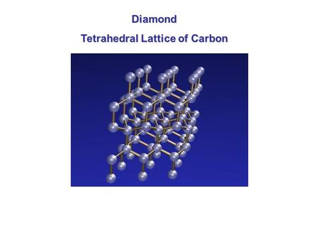 Diamond Tetrahedral Lattice of Carbon. Graphite Sheets or Layers of Rings of Carbon.