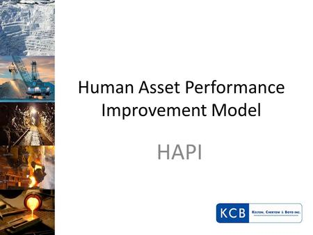 Human Asset Performance Improvement Model HAPI. Human Asset Productivity Improvement (HAPI): The Challenges In our experience, clients face numerous challenges.