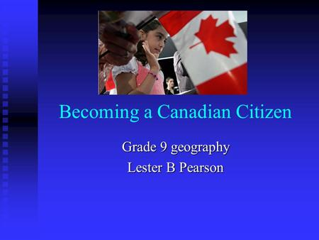 being canadian essay