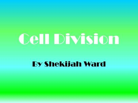 Cell Division By Shekijah Ward. Interphase (Prep-Stage) o Grow o DNA replicates(exact copy) o Prepares to divide o 90% of a Cells life is spent in Interphase.