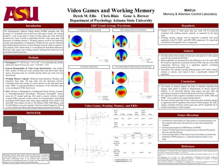 Video Games and Working Memory Derek M. Ellis Chris Blais Gene A. Brewer Department of Psychology Arizona State University The Entertainment Software Rating.