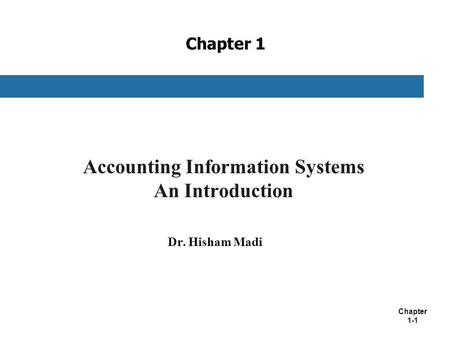 Accounting Information Systems An Introduction