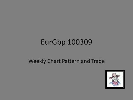 EurGbp 100309 Weekly Chart Pattern and Trade. Note: This is just another way to look at similar information that has been presented previously. Pattern.