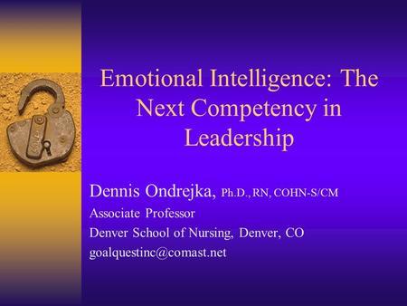 Emotional Intelligence basmah algamdi 3rd /b