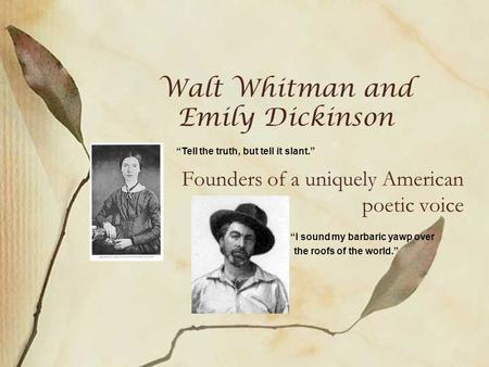 Emily Dickinson Voices in Poetry Voices in Poetry Childs World