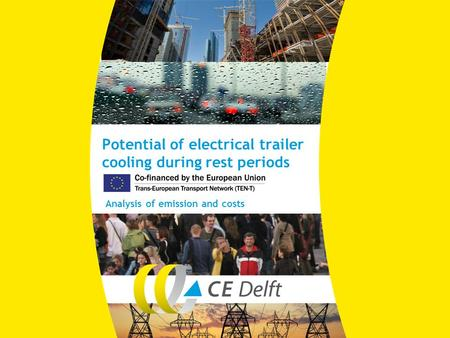 Potential of electrical trailer cooling during rest periods Analysis of emission and costs.