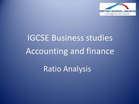 IGCSE Business studies Accounting and finance