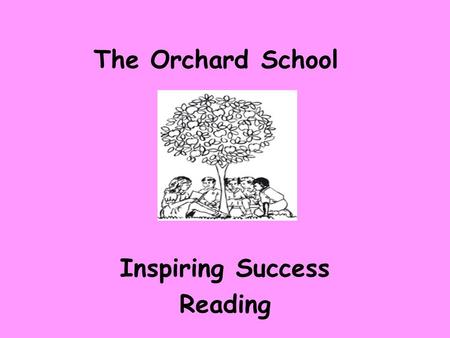 Inspiring Success Reading The Orchard School. Reading P atience and Practice U nderstanding & Meaning R esilience- Risk taking P rediction O racy S uccess.