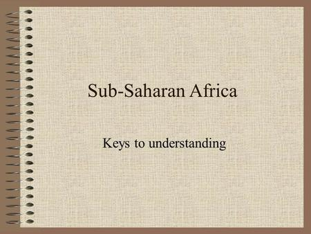 Sub-Saharan Africa Keys to understanding. Physical Setting 1.The continent of Africa is nearly three times the size of the United States and has about.