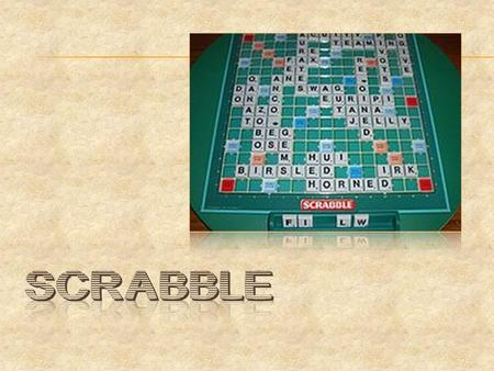  What is scrabble?  Scrabble is a word game in which two to four players score points by forming words from individual lettered tiles on a game board.
