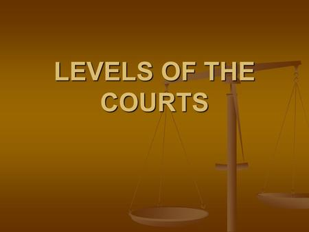 LEVELS OF THE COURTS. FEDERAL – US DISTRICT COURTS 94 in the USA 94 in the USA Handle cases of Handle cases of Constitution Constitution Federal Laws.